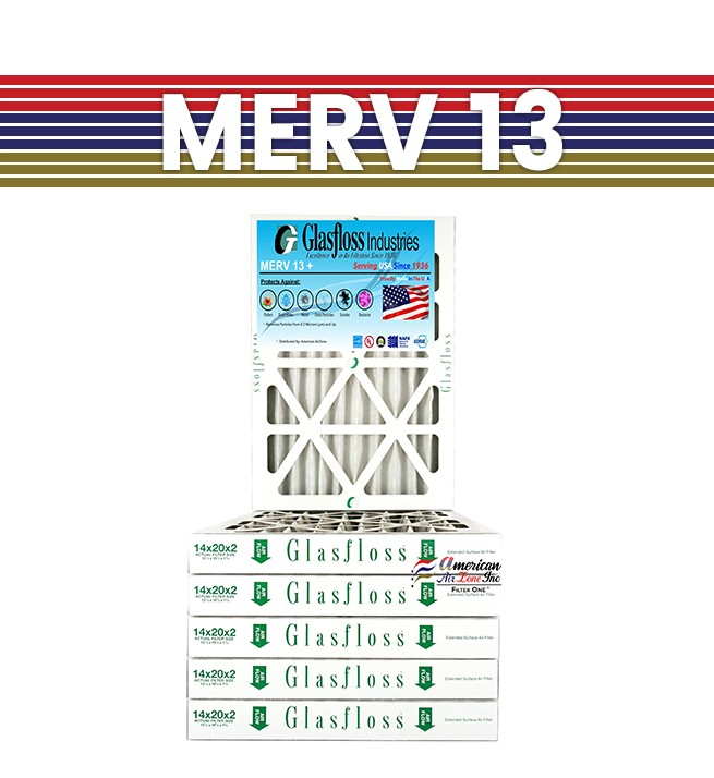 by Glasfloss Industries 16x20x2 Merv 8 Furnace Filter 12 Pack