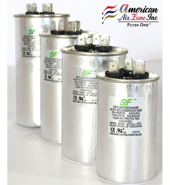 1-Pack for AC Motors Replaces other Brands Capacitors Fans or AC Compressors 370//440 Volts Dual Run Capacitor-Round MicroFarad TRANE SF 50+7.5 MFD /μF